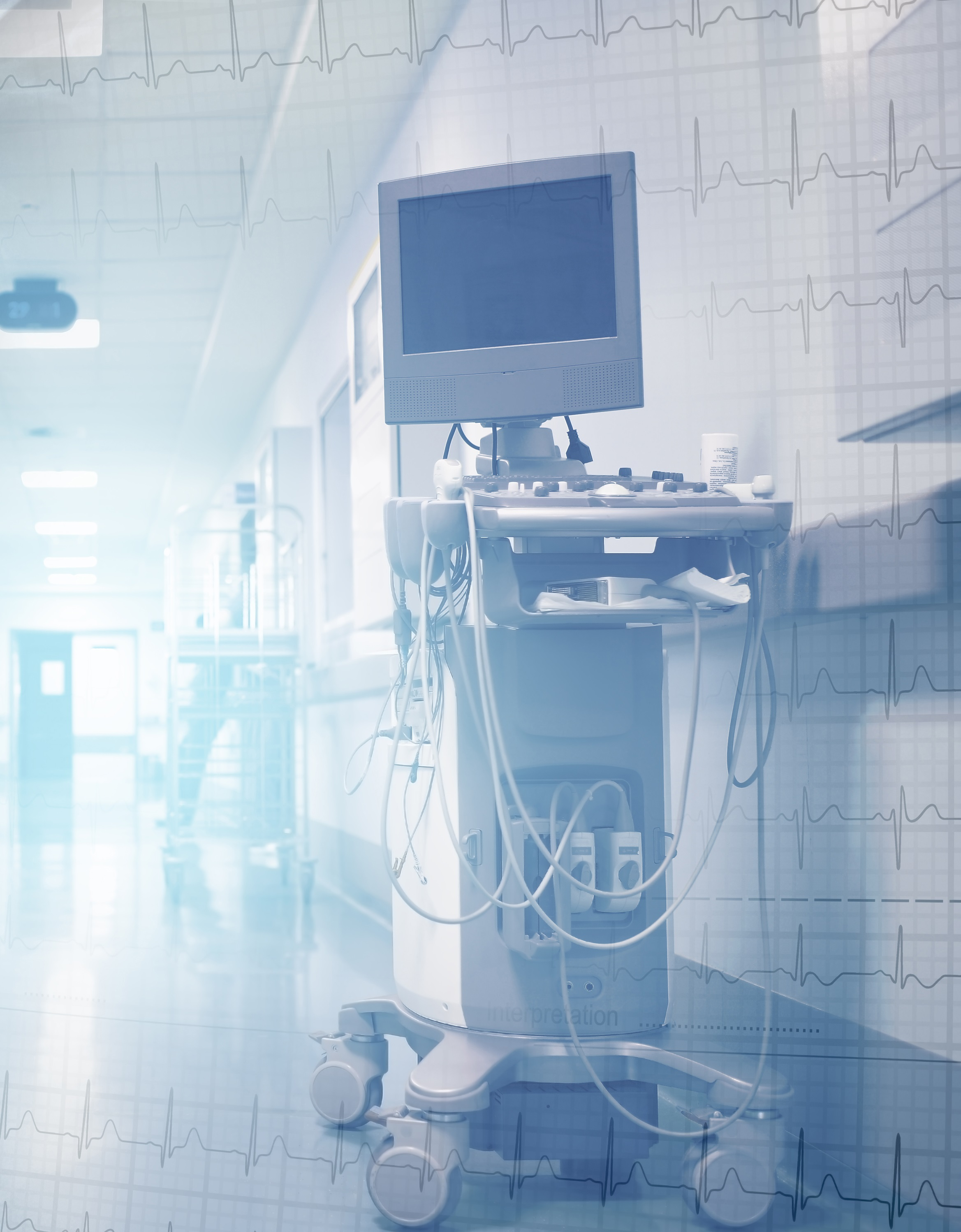 hospital device with monitor