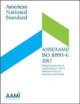 ANSI/AAMI/ISO 10993-4:2017